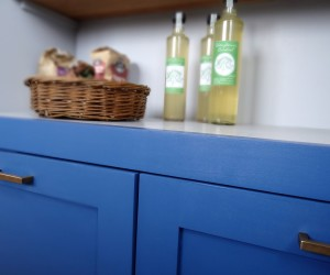 Hand painted kitchen cupboard units